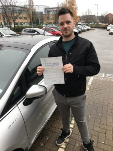 an image of another happy student who passed their driving test in Bradford with Leanne Barker